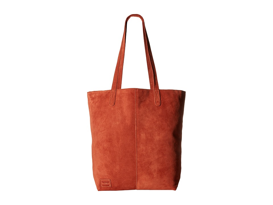 TOMS - Cosmopolitan Soft Suede Tote (Sienna) Tote Handbags