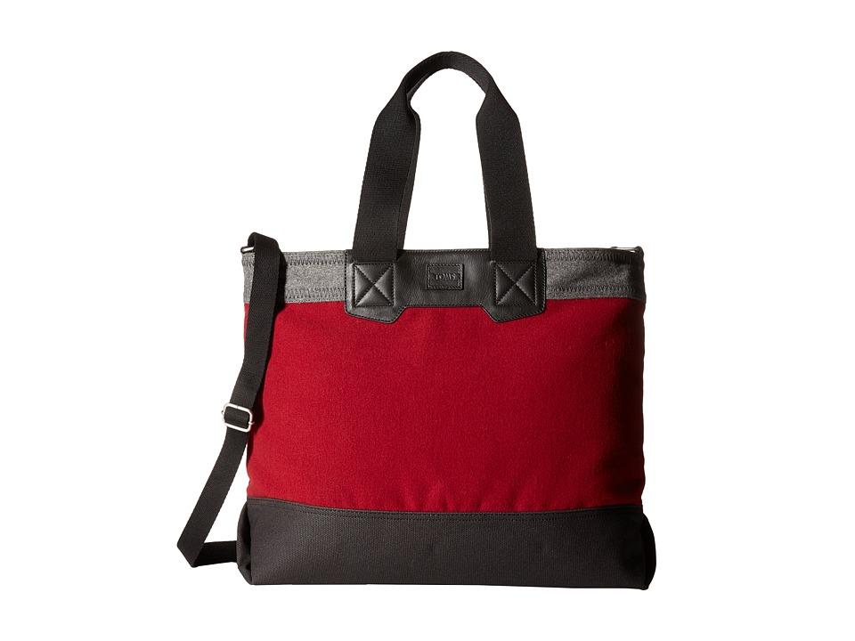 TOMS - City Heavy Felt Tote (Aubergine) Tote Handbags