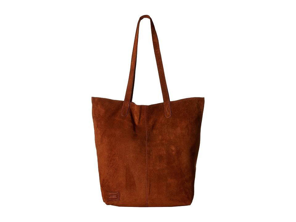 TOMS - Cosmopolitan Soft Suede Tote (Amber) Tote Handbags