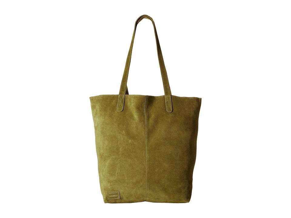 TOMS - Cosmopolitan Soft Suede Tote (Olive) Tote Handbags