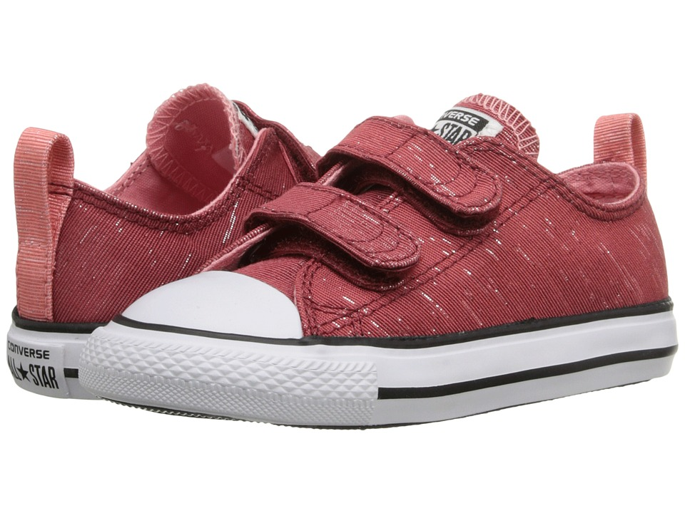 Converse Kids - Chuck Taylor All Star 2V (Infant/Toddler) (Back Alley Brick/Daybreak Pink/White) Girls Shoes