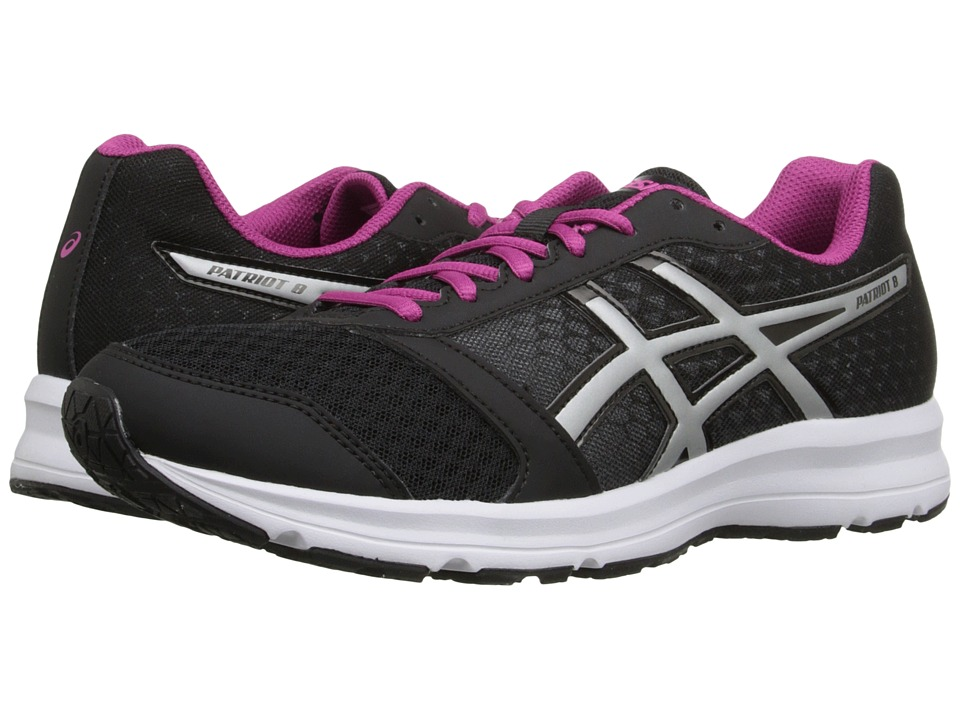 ASICS - Patriot 8 (Black/Silver/Berry) Women