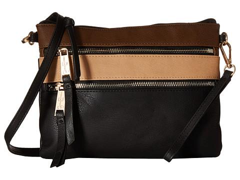 Jessica Simpson - Clara Top Zip Crossbody (Black/Henna/Sand) Cross Body Handbags