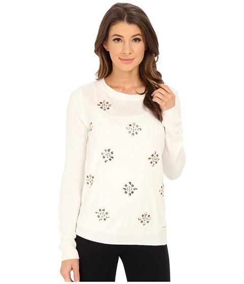 U.S. POLO ASSN. - All Over Jewel Sweater (Egret Combo) Women