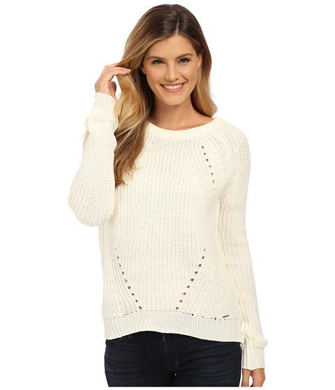 U.S. POLO ASSN. - Bulky Raglan Pullover (Egret) Women's Sweater