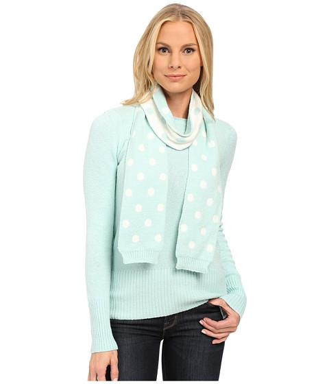 U.S. POLO ASSN. - Crew Neck Pullover with Polka Dot Scarf (Fair Aqua Combo) Women's Sweater