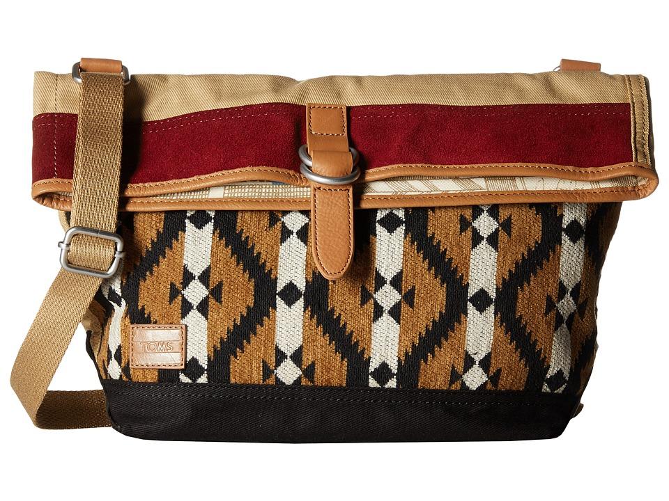 TOMS - Caldera Southwestern Messenger (Amber) Messenger Bags