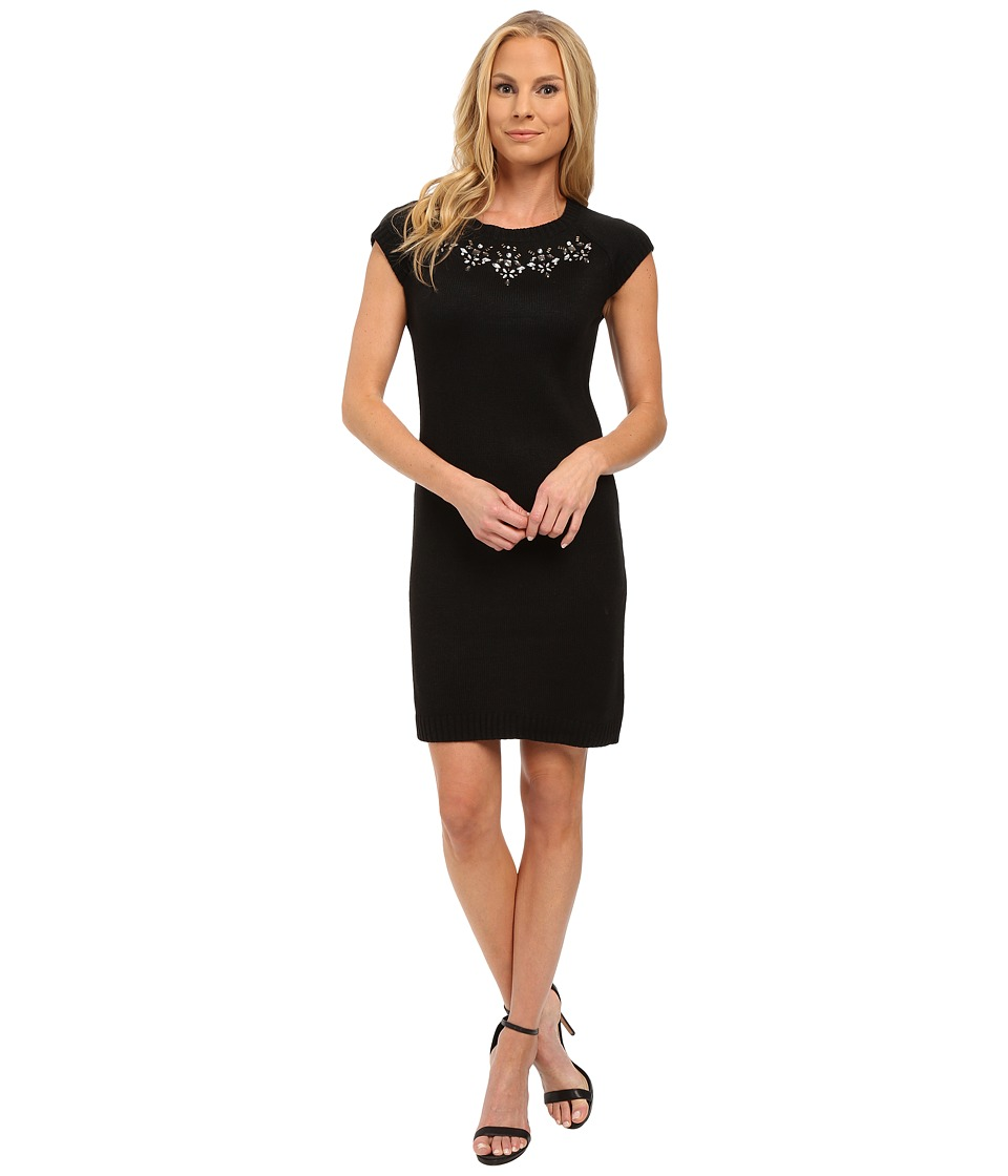 U.S. POLO ASSN. - Jewel Necklace Sweater Dress (Anthracite Combo) Women