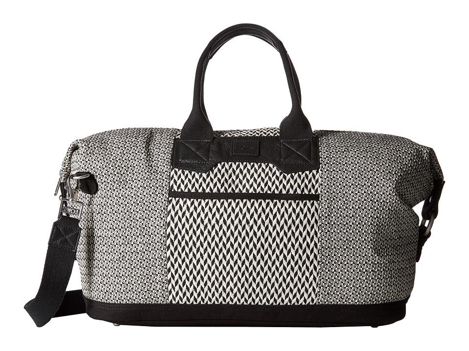 TOMS - Traveler Pattern Weave Weekender (Black/White) Weekender/Overnight Luggage