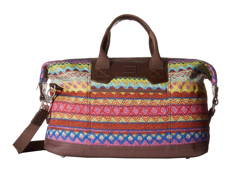 TOMS - Seeker Sweater Felt Weekender (Berry Multi) Weekender/Overnight Luggage
