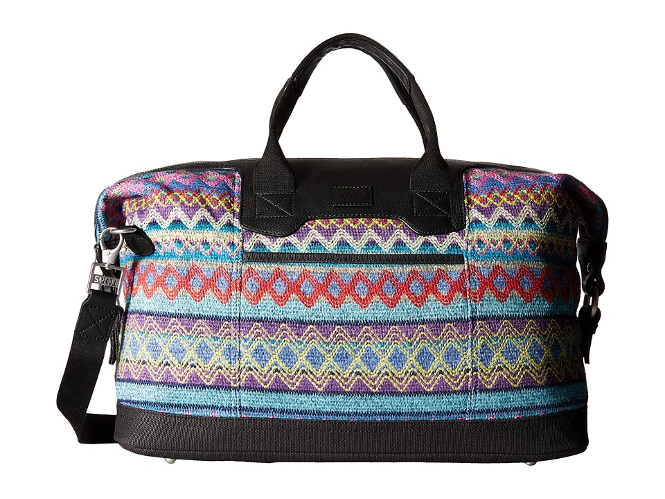 TOMS - Seeker Sweater Felt Weekender (Sky Multi) Weekender/Overnight Luggage