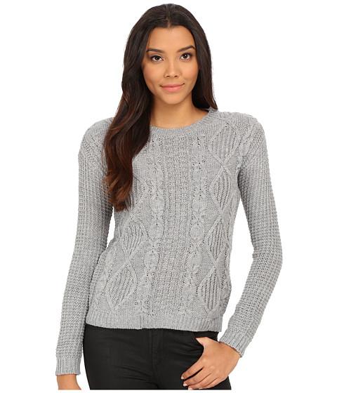 U.S. POLO ASSN. - Pattern Knit Bulky Pullover (Medium Heather Grey) Women