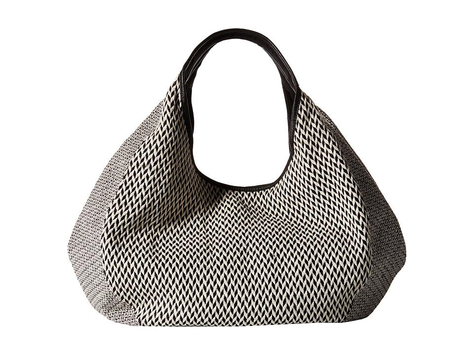 TOMS - Sequoia Pattern Weave Hobo (Black/White) Hobo Handbags
