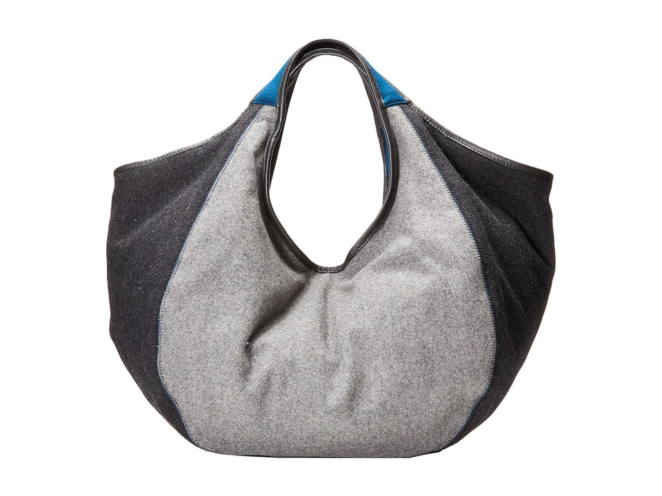 TOMS - Sequoia Heavy Felt Hobo (Charcoal) Hobo Handbags