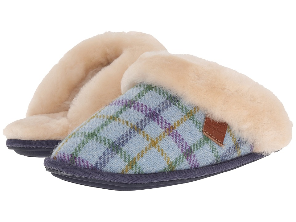 Bedroom Athletics - Kate Harris Tweed (Light Blue Check) Women's Slippers