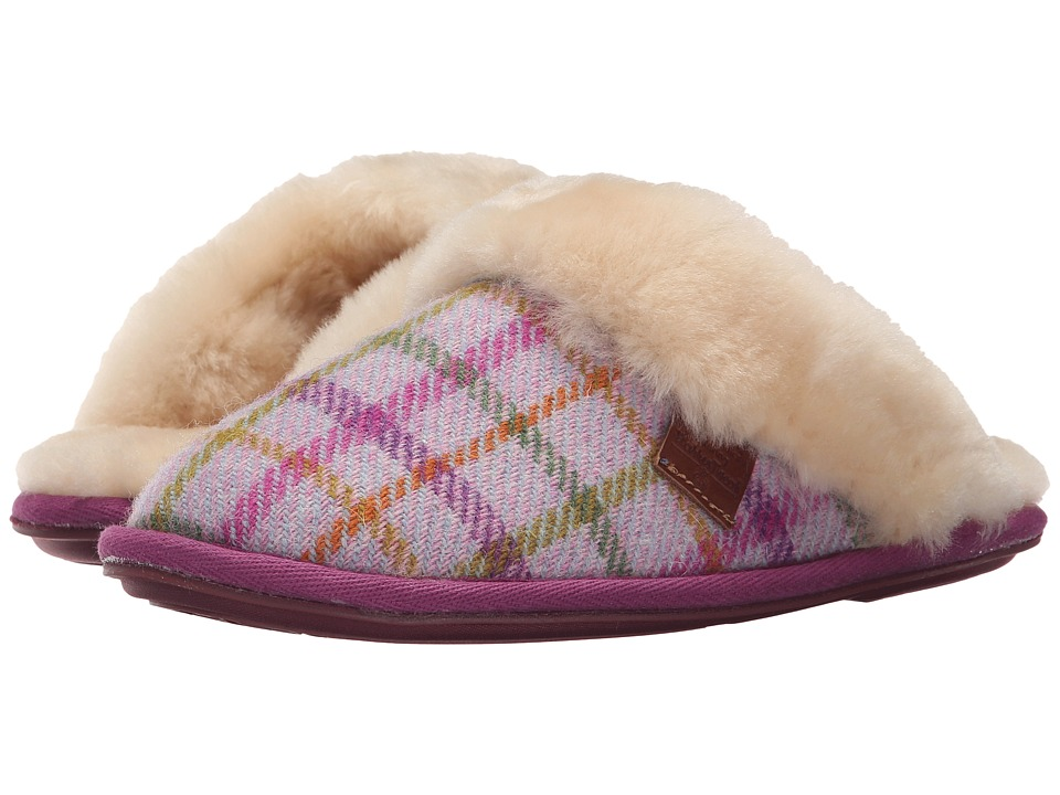 Bedroom Athletics - Kate Harris Tweed (Lilac/Pink Check) Women's Slippers