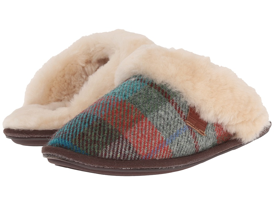 Bedroom Athletics - Kate Harris Tweed (Green/Orange Check) Women's Slippers