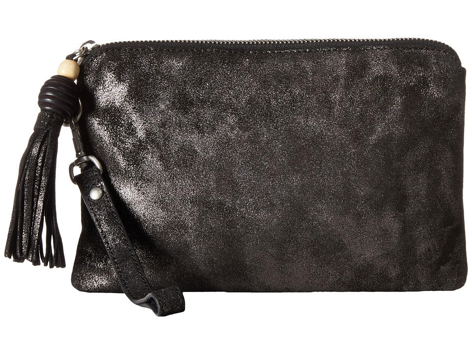 TOMS - Party Metallic Pouch (Gunmetal) Clutch Handbags