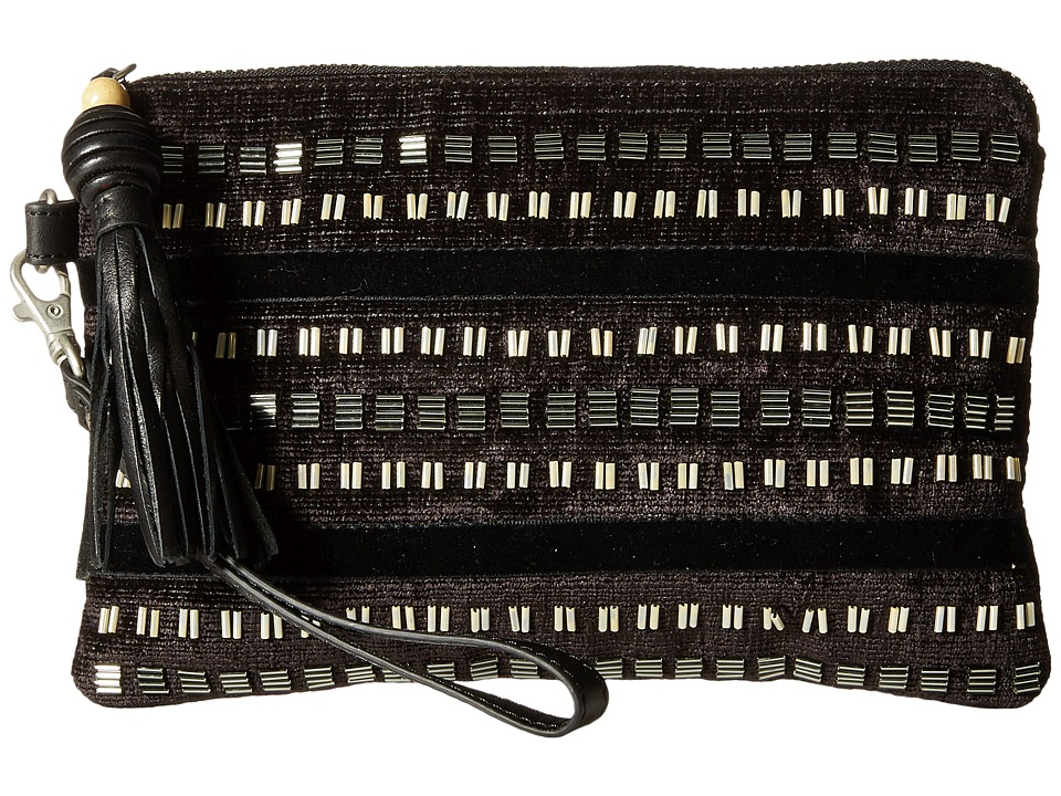 TOMS - Party Beaded Stripe Pouch (Black) Travel Pouch