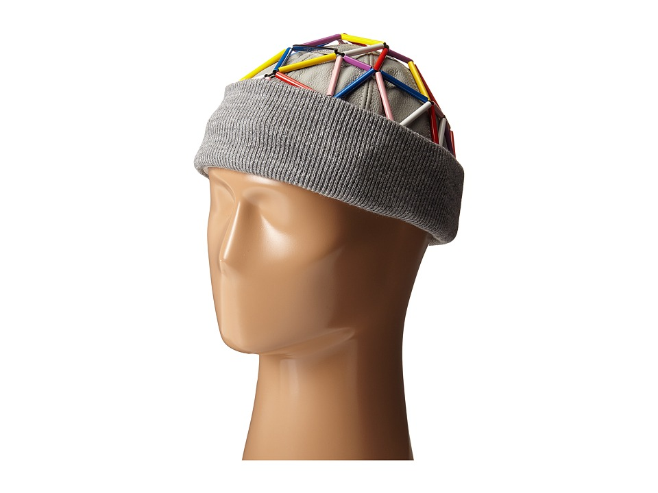 WXYZ - Leather Beanie (Multicolor) Beanies