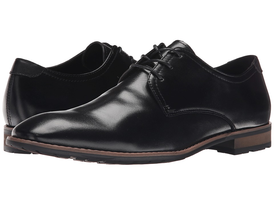 Steve Madden - Elvess (Black Leather) Men
