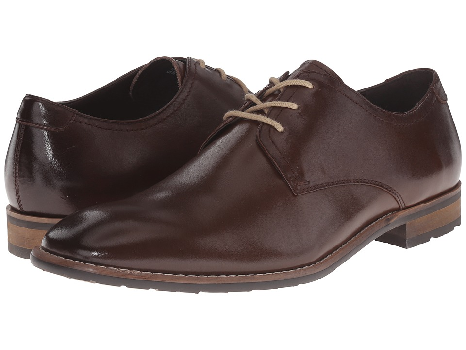 Steve Madden - Elvess (Brown Leather) Men's Lace up casual Shoes
