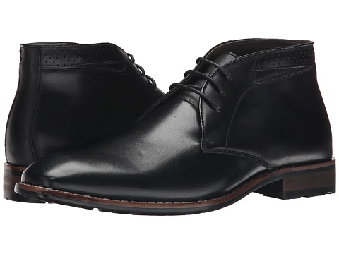 Steve Madden - Eddard (Black Leather) Men's Lace-up Boots