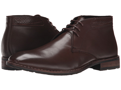 Steve Madden - Eddard (Brown Leather) Men's Lace-up Boots