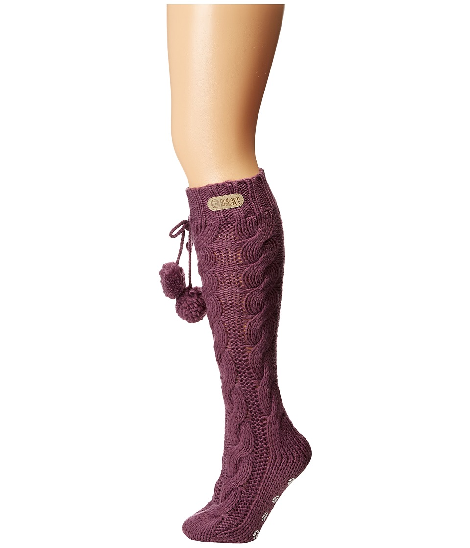 Bedroom Athletics - Angelina (Grape) Women's Knee High Socks Shoes