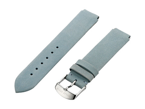 Philip Stein - 18mm Light Blue Vintage Suede Calf (Light Blue) Watches