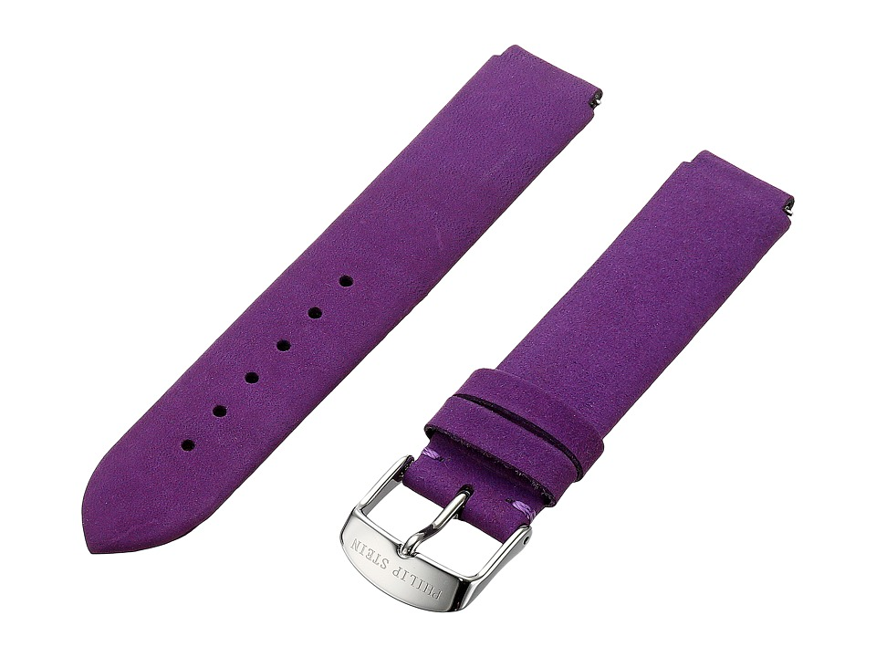 Philip Stein - 18mm Purple Vintage Suede Calf (Purple) Watches