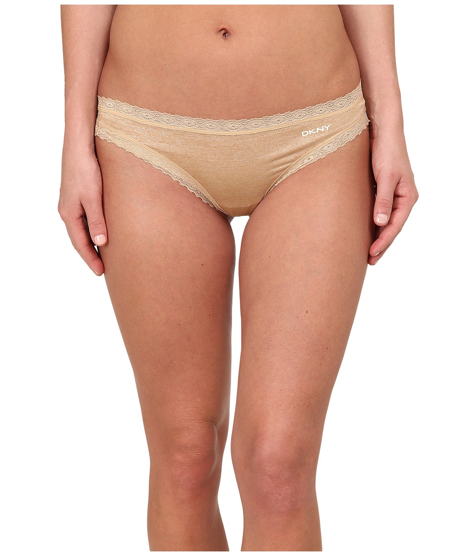 DKNY Intimates - Signature Lace Thong DK3687 (Skinny Dip Heather/Ivory) Women's Underwear