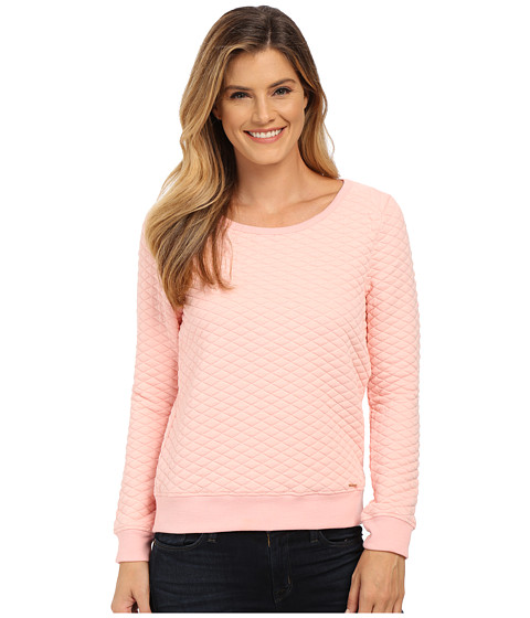 U.S. POLO ASSN. - Quilted Crew Neck Pullover (Impatiens Pink Combo) Women's Sweater