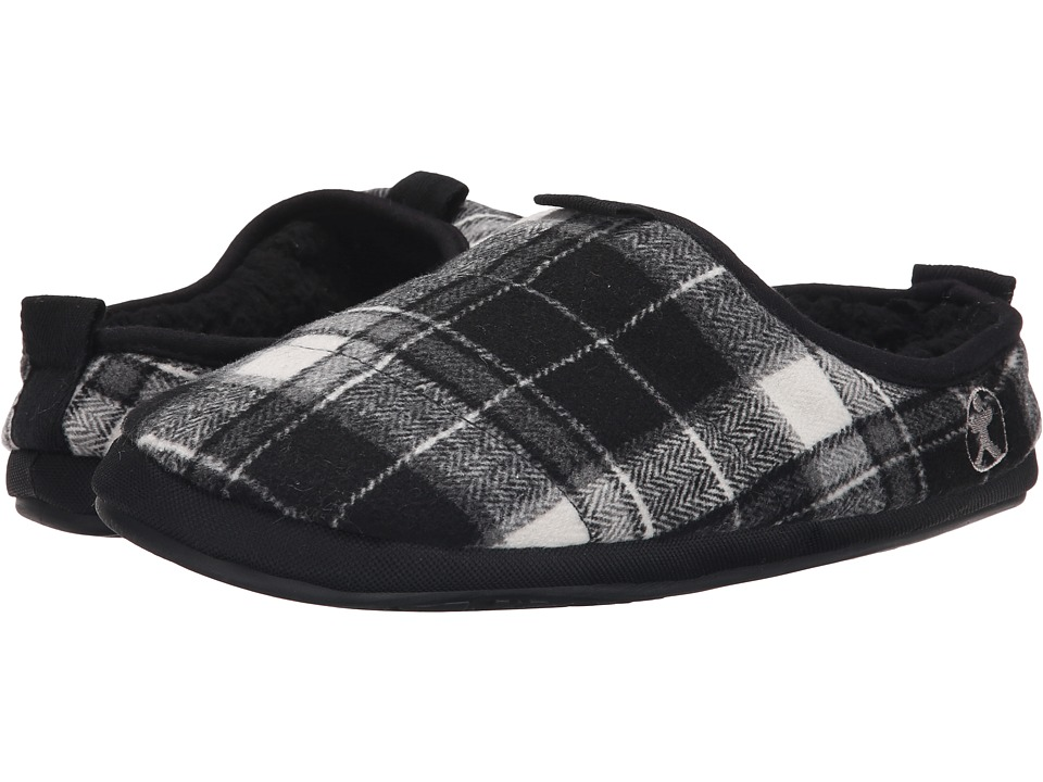 Bedroom Athletics - Bale (Black/White) Men's Slippers