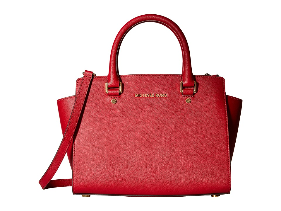 MICHAEL Michael Kors - Selma Medium Tz Satchel (Cherry) Satchel Handbags