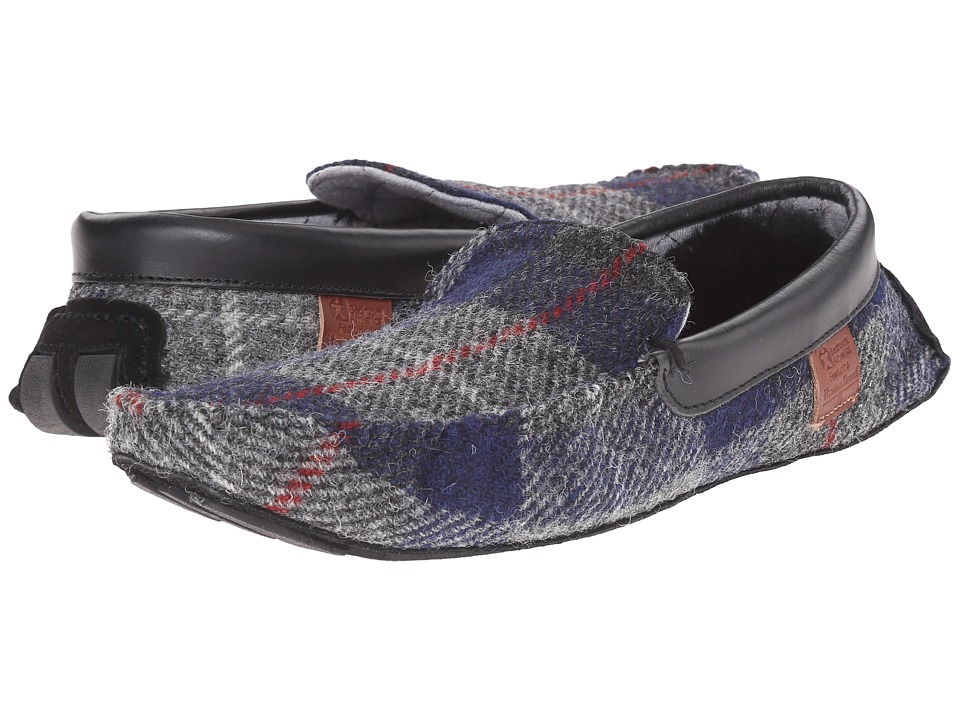 Bedroom Athletics - George (Navy/Black Check) Men's Slippers