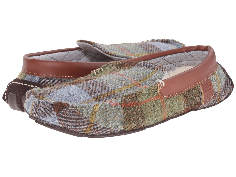 Bedroom Athletics - George (Chocolate/Green Check) Men's Slippers