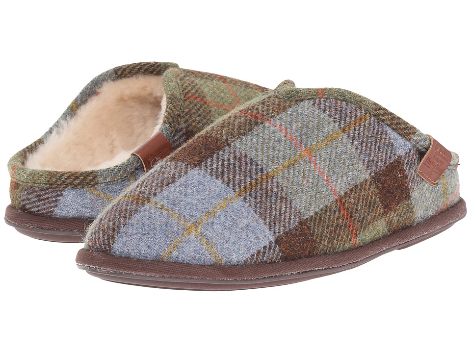Bedroom Athletics - William Harris Tweed (Chocolate/Green Check 1) Men's Slippers