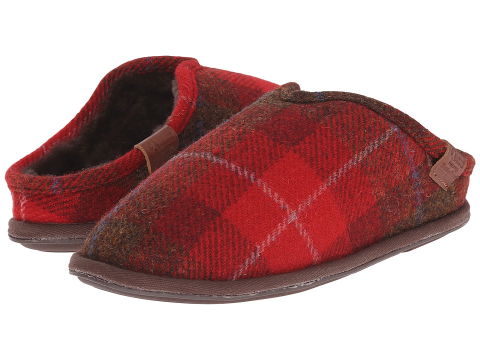 Bedroom Athletics - William Harris Tweed (Red Check) Men's Slippers