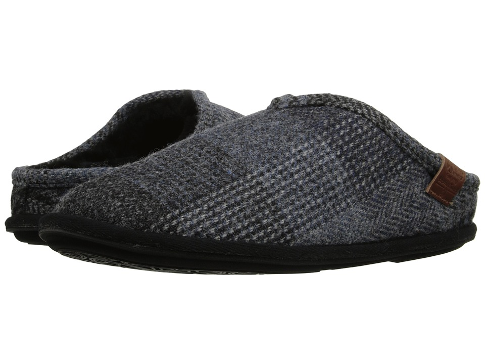 Bedroom Athletics - William Harris Tweed (Grey/Blue Check) Men's Slippers