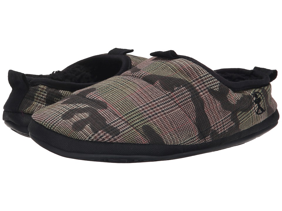 Bedroom Athletics - Eastwood (Green Check/Camo) Men's Slippers