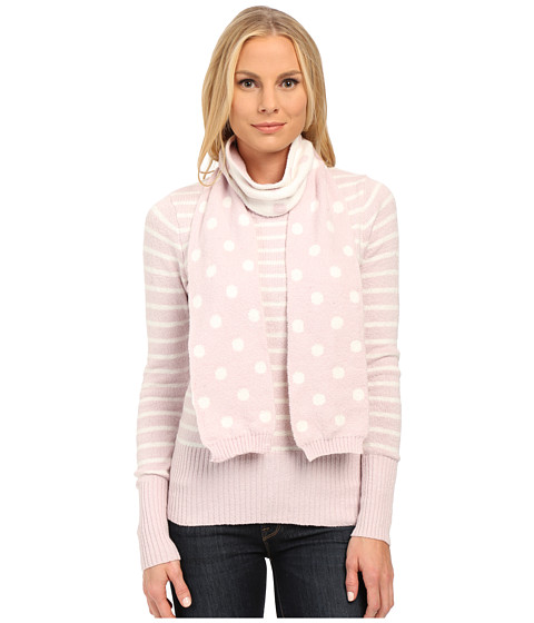 U.S. POLO ASSN. - Stripe Crew Neck Sweater with Polka Dot Scarf (Light Lilac Combo) Women's Sweater