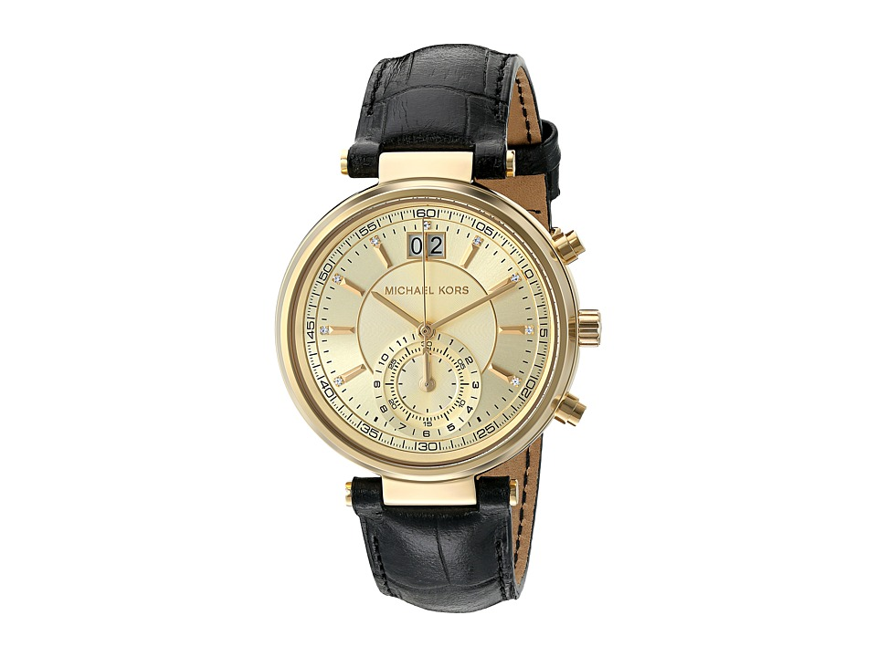 Michael Kors - Sawyer (MK2433 - Gold/Black) Watches