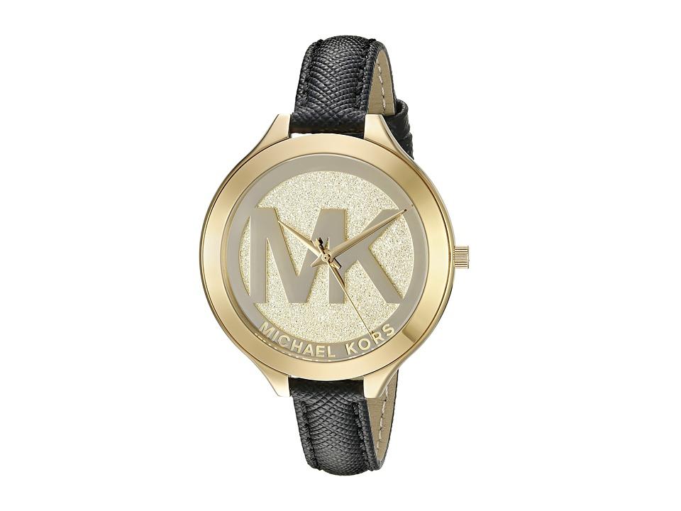 Michael Kors - Slim Runway (MK2392 - Gold/Black) Analog Watches