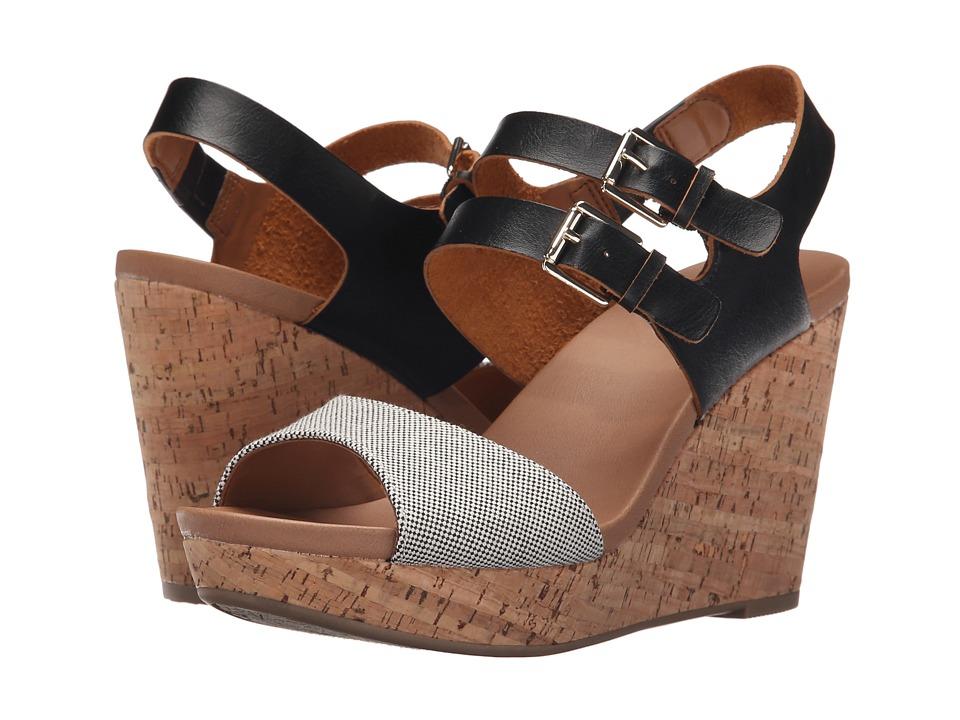 Dr. Scholl's - Mashup (Black/Black Beach Bag) Women's Wedge Shoes