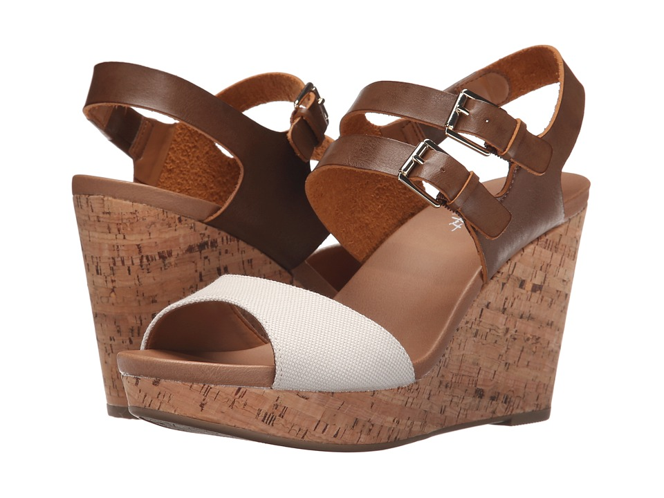 Dr. Scholl's - Mashup (Smoke/Dark Saddle Beach Bag) Women's Wedge Shoes