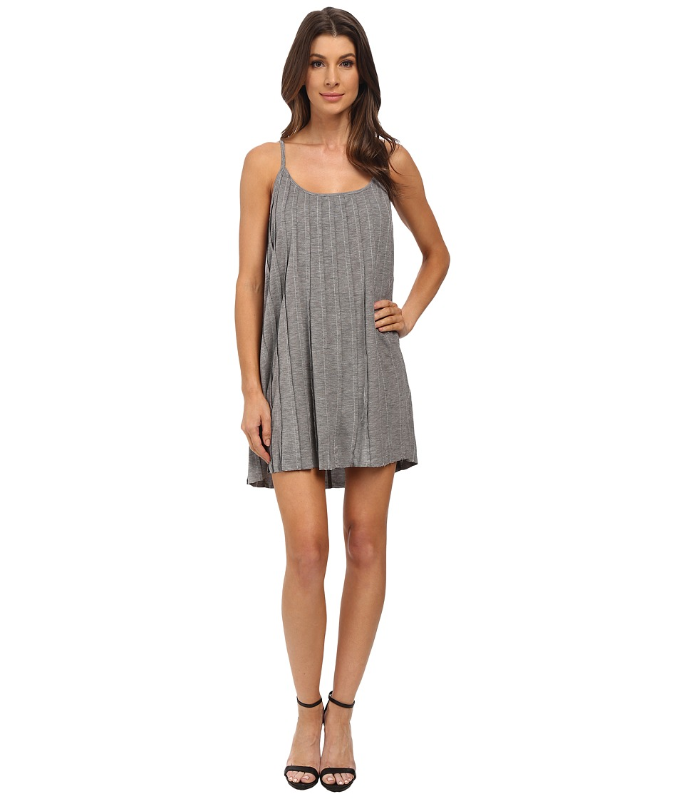 Olive & Oak - Raw Edge Pleat Dress (Granite) Women's Dress