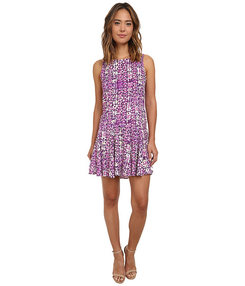 Olive & Oak - Spring Multi Dress (Spring Plum Multi) Women