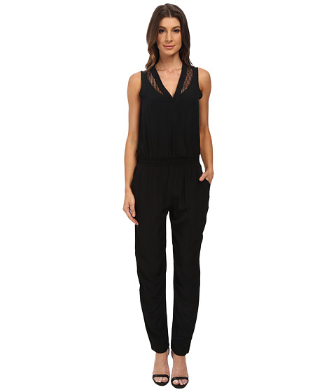 Olive & Oak - Woven Jumpsuit (Black) Women's Jumpsuit & Rompers One Piece