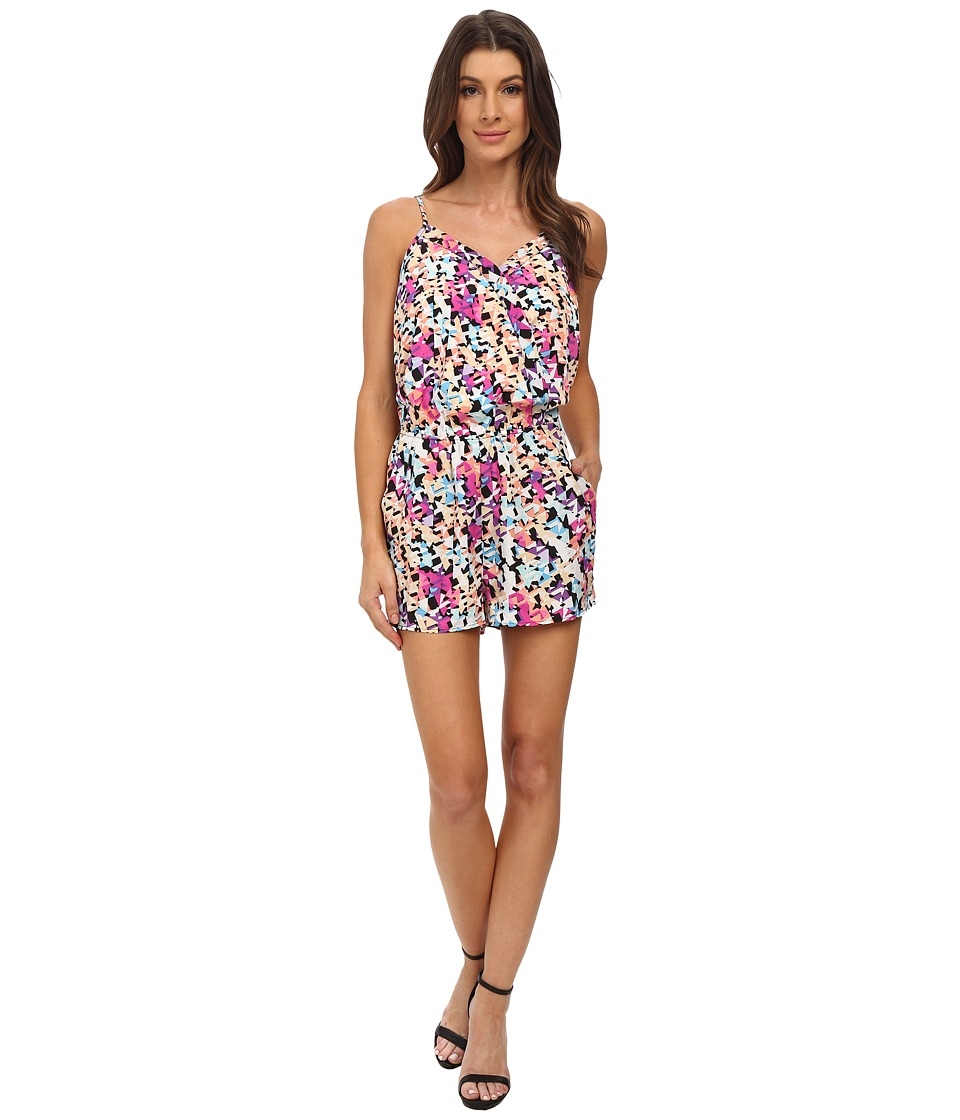 Olive & Oak - Printed Woven Romper (Summer Sangria Multi) Women's Jumpsuit & Rompers One Piece